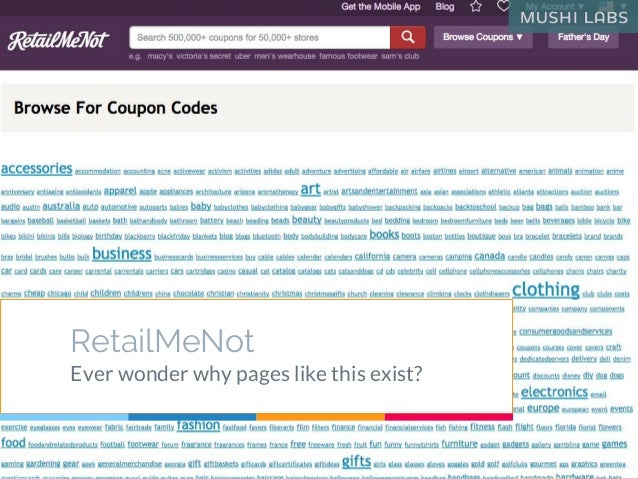 RetailMeNot Ever wonder why pages like this exist?