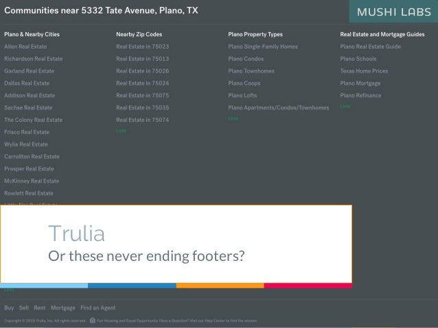 Trulia Or these never ending footers?