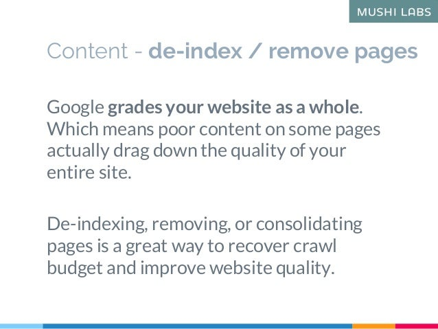 Google grades your website as a whole. Which means poor content on some pages actually drag down the quality of your entir...