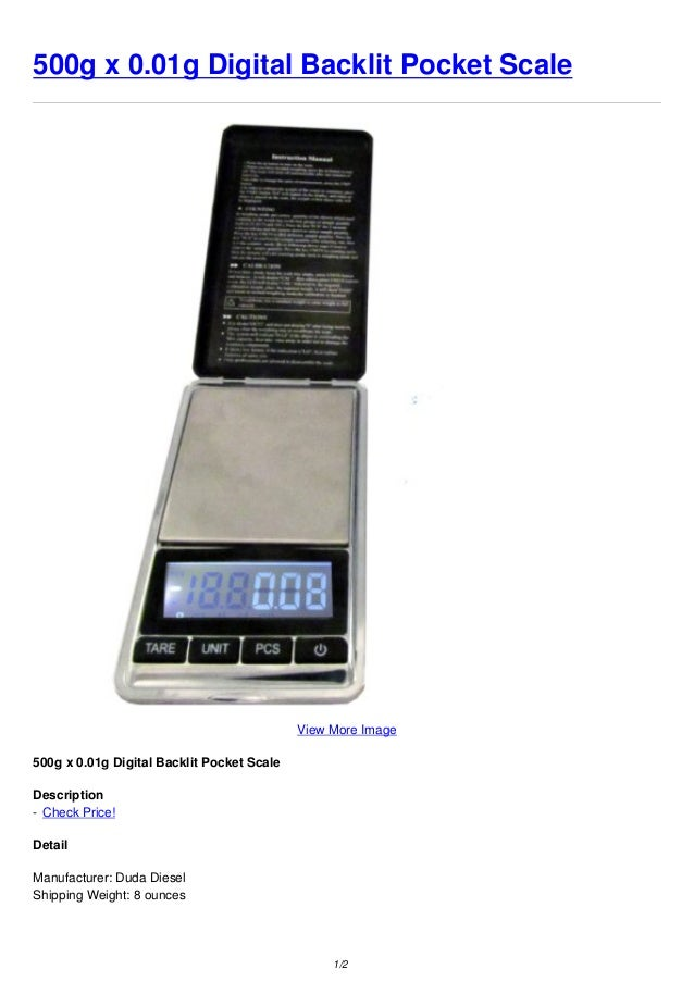 500g x 0.01g Digital Backlit Pocket ScaleView More Image500g x 0.01g Digital Backlit Pocket ScaleDescription- Check Price!...