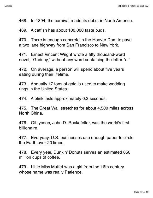 Fun Facts Pdf