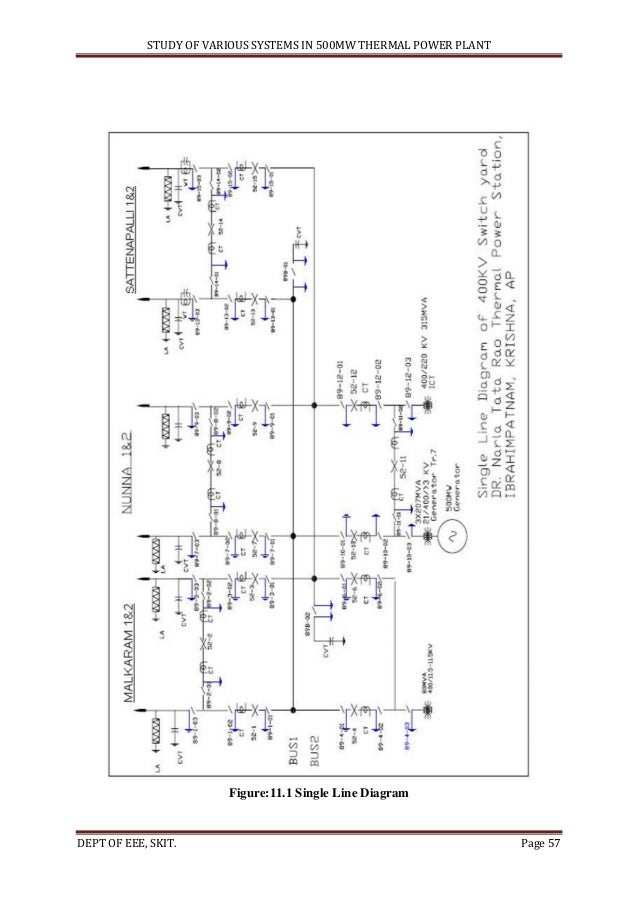 power plant single line diagram wiring diagram