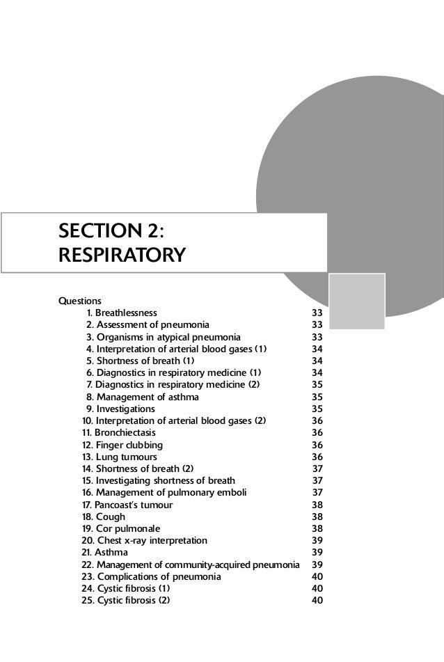 2 RESPIRATORY 26. Carcinogen exposure 40 27. Shortness of breath (3) 41 28. Hypersensitivity pneumonitis 41 29. Pyrexia 41...