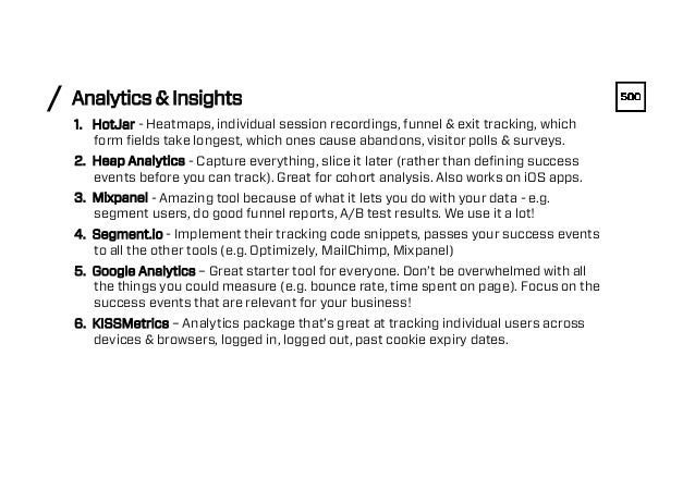 Analytics & Insights/ 1. HotJar - Heatmaps, individual session recordings, funnel & exit tracking, which form fields take ...
