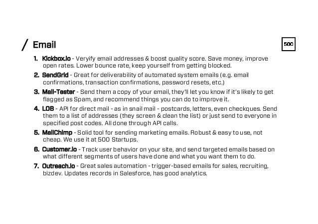 Email/ 1. Kickbox.io - Veryify email addresses & boost quality score. Save money, improve open rates. Lower bounce rate, ...
