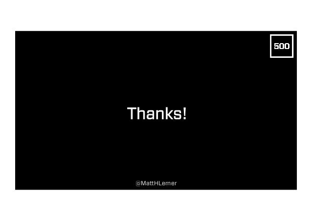 Thanks! @MattHLerner