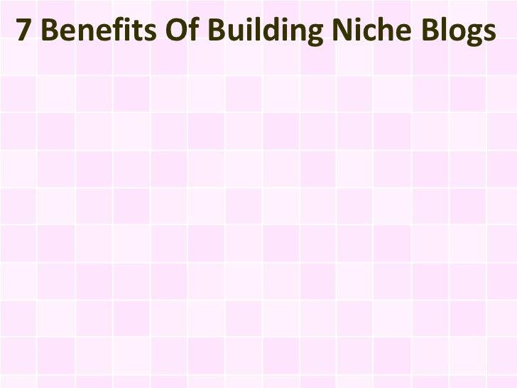 7 Benefits Of Building Niche Blogs
