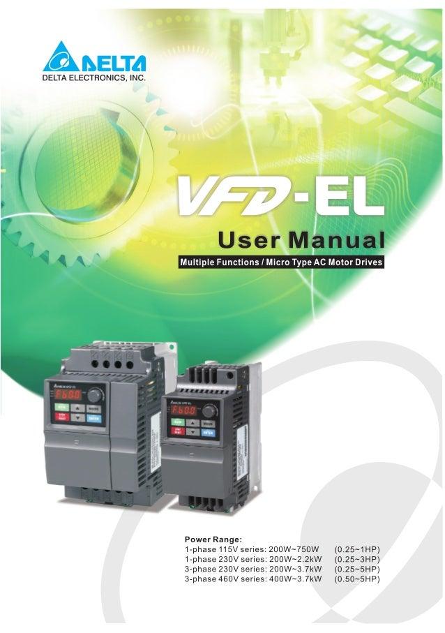 Manual VFD Delta on