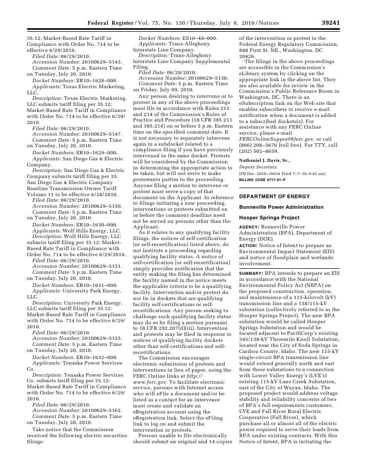 Federal Register / Vol. 75, No. 130 / Thursday, July 8, 2010 / Notices                                                 392...