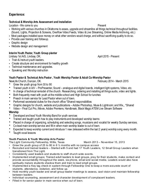 100 resume sample for youth counselor youth pastor resume sample youth leader  resume - Sample Youth