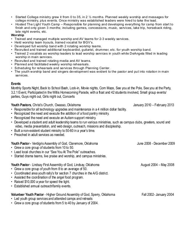 Ministry Resume Template Resume Template Youth Ministry Resume Church Ministry  Resume Templates Youth Ministry Resume Templates