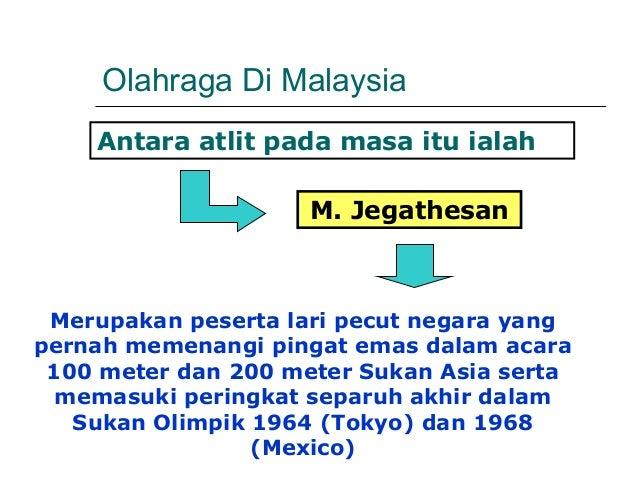 Olahraga Di Malaysia    Antara atlit pada masa itu ialah                     M. Jegathesan Merupakan peserta lari pecut ne...