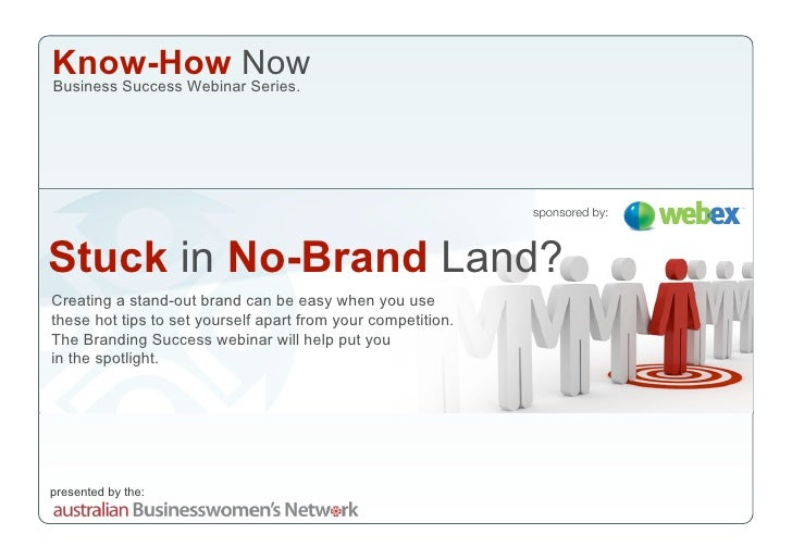 Know-How Now Business Success Webinar Series.                                                                   sponsored ...