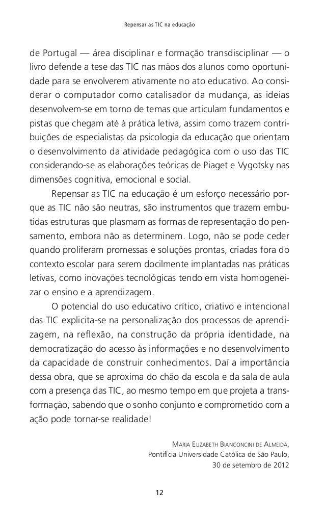 """13 Prefácio REFERÊNCIAS BIBLIOGRÁFICAS [1] Dale, R. (2004). «Globalização e educação: demonstrando a existência de uma """"cu..."""