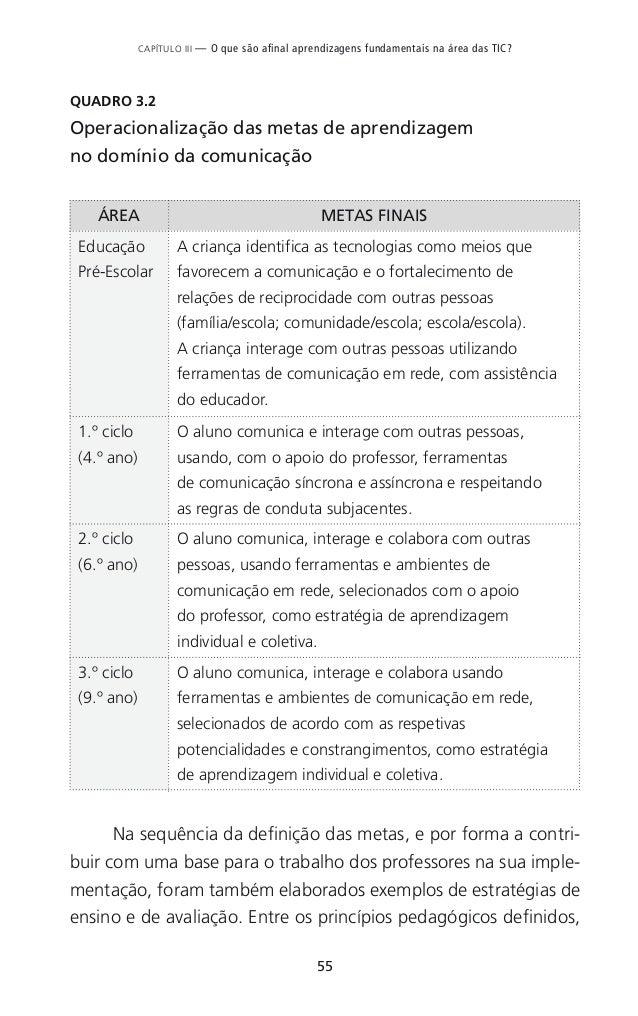 63 CAPÍTULO IV — Como usar as tecnologias digitais nas diferentes áreas disciplinares? QUADRO 4.1 Quadro-síntese de situaç...