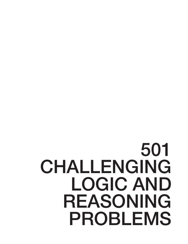 501CHALLENGING   LOGIC AND  REASONING  PROBLEMS