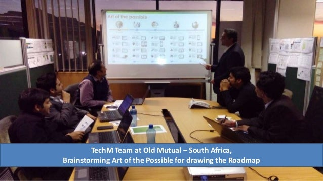 TechM Team at Old Mutual – South Africa, Brainstorming Art of the Possible for drawing the Roadmap