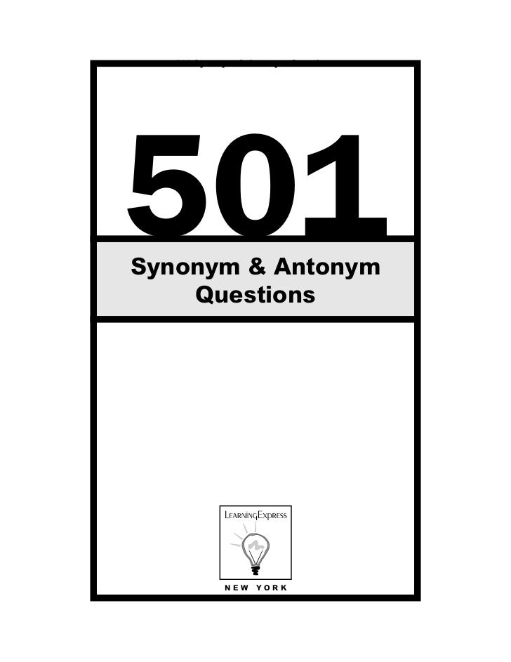 501 synonyms and antonyms questions pdf
