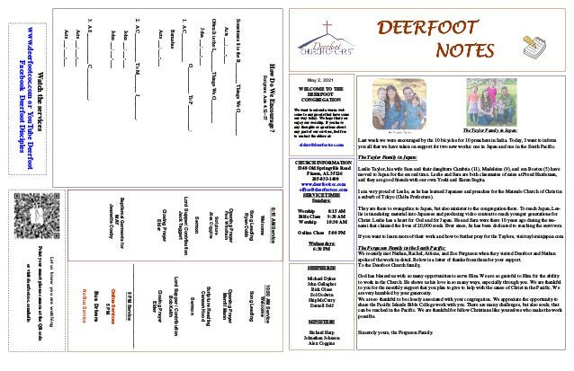 DEERFOOT DEERFOOT DEERFOOT DEERFOOT NOTES NOTES NOTES NOTES May 2, 2021 Let us know you are watching Point your smart phon...