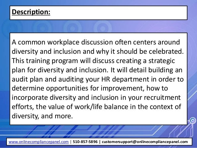 workplace diversity and implementations The workforce diversity policy and plan is a commitment by the  implementation of the strategic human resources plan 2012-2017 implementing the plan the success of the plan depends on how well it is implemented all staff  such in the workplace innovative workforce diversity.
