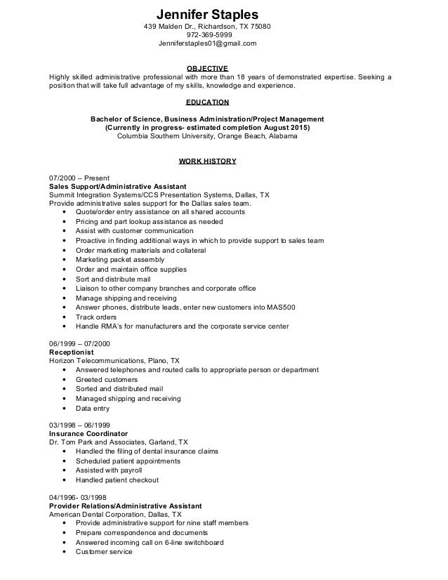 staples jennifer resume 2015