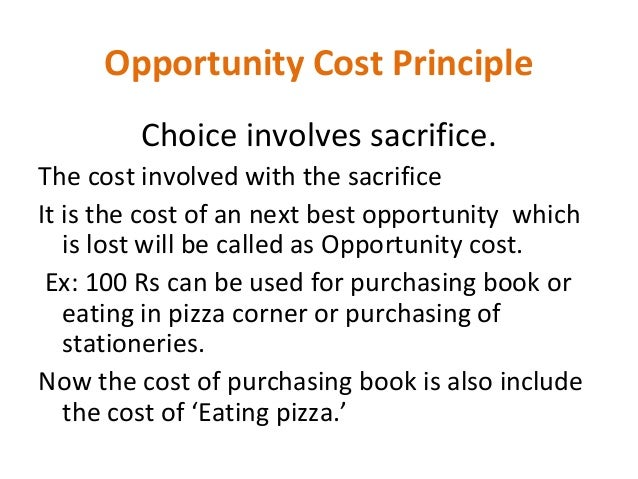 importance of opportunity cost in managerial decision making