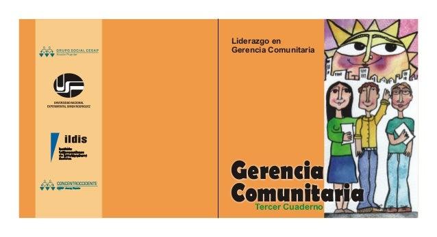 Liderazgo en Gerencia Comunitaria Tercer Cuaderno Gerencia Comunitaria