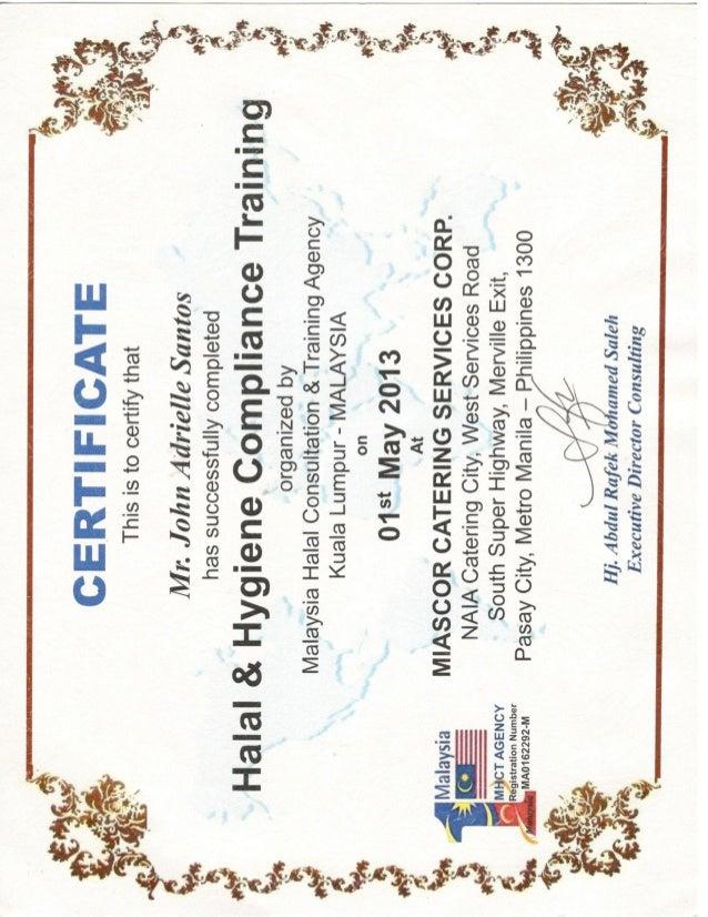 Mcsc Halal Hygiene Compliance Training