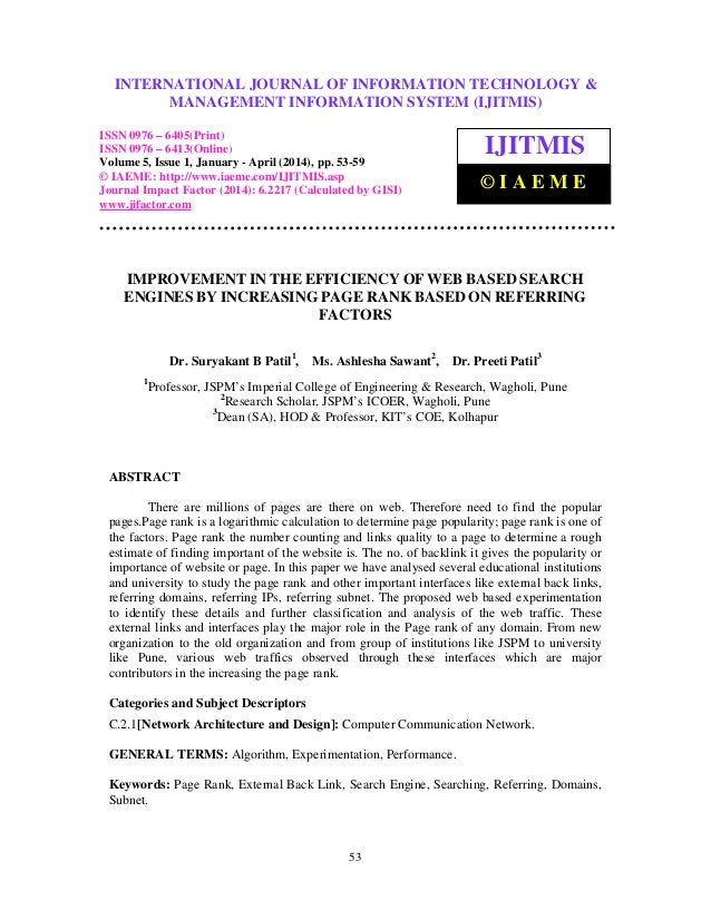 International Journal of Information Technology & Management Information System (IJITMIS), ISSN 0976 – 6405(Print), ISSN 0...