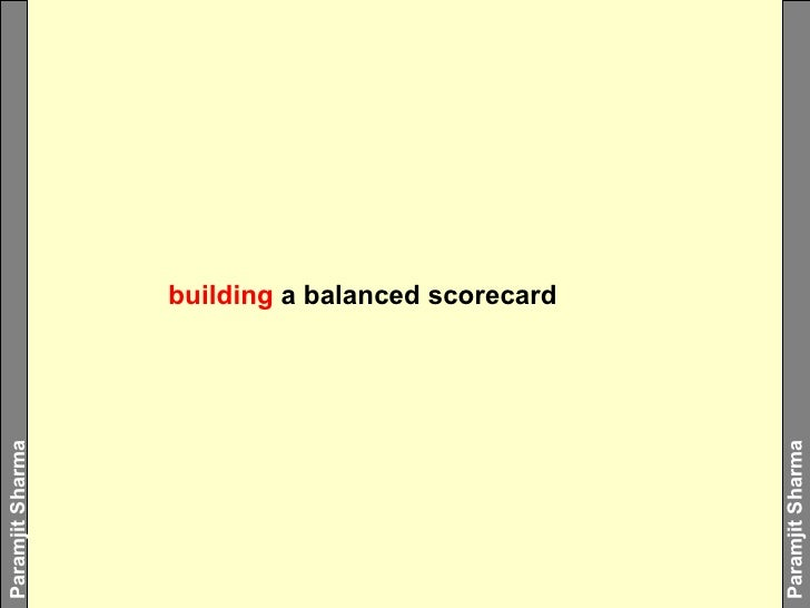 building  a balanced scorecard