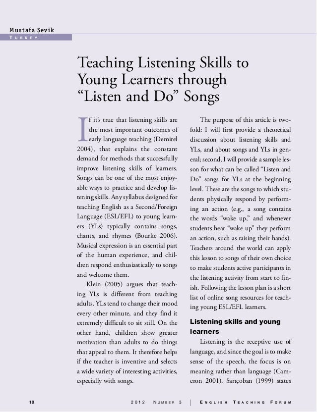 speech advantages of listening to english songs essay Argumentative essay: the benefits of going to school to listening to instructions and following orders, and developing leadership skills.