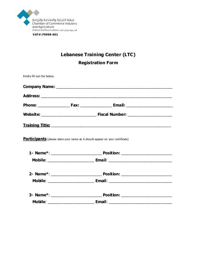 Registration Form - LTC