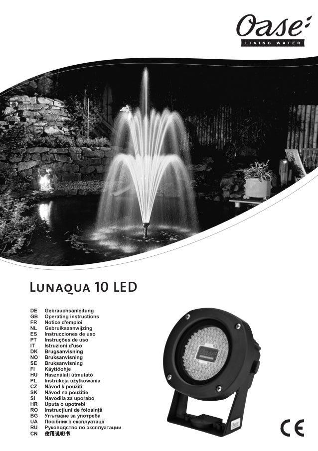 13307 OASE-GAW Lunaqua_LED_end:13307 OASE-GAW Lunaqua_10_LED  Lunaqua 10 LED  11.08.2009  16:05 Uhr  Seite 2