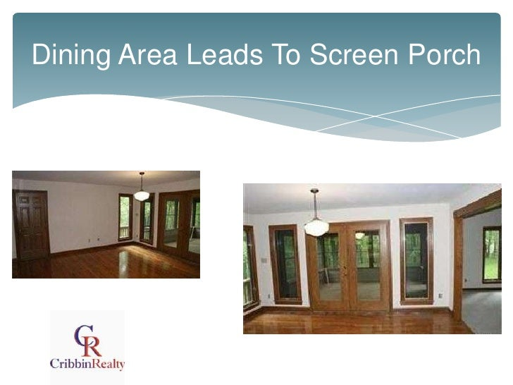 Dining Area Leads To Screen Porch