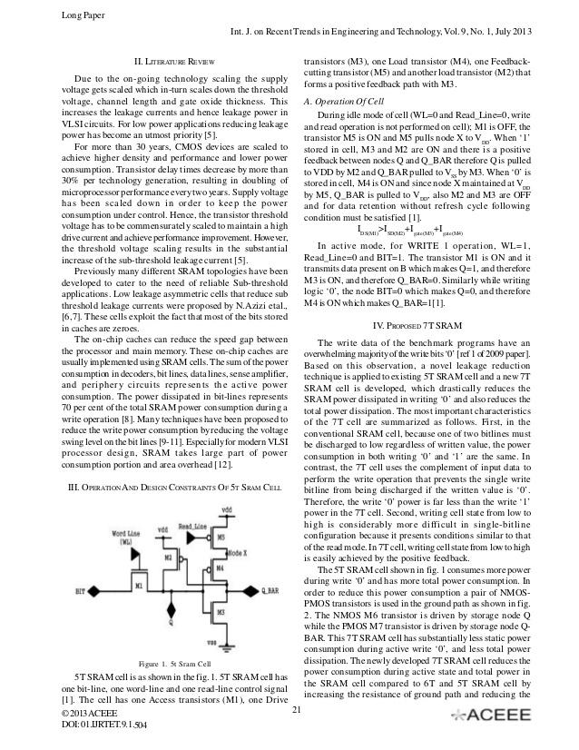 Sram architecture thesis