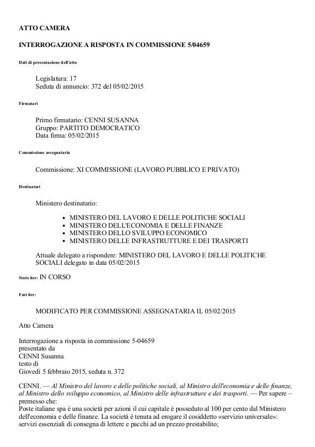 5 04659 camera iter atto for Atti parlamentari camera