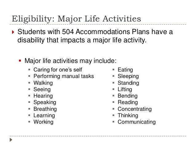 504 accommodation plans