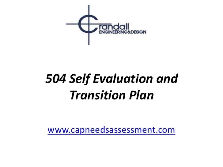 504 Self Evaluation and Transition Plan<br />www.capneedsassessment.com<br />