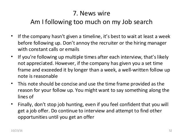 52 - What To Say When Following Up On A Job
