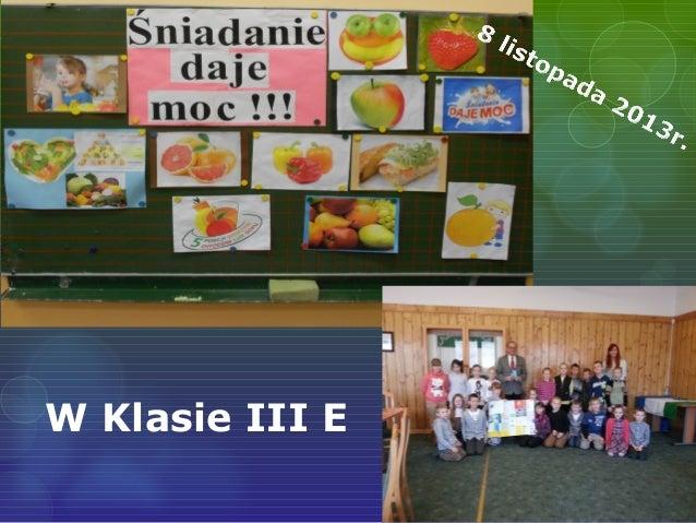 W Klasie III E
