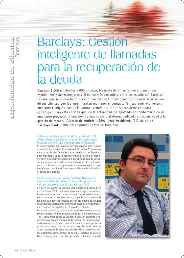 experiencias de clientes                                              Barclays: Gestión                    Barclays       ...