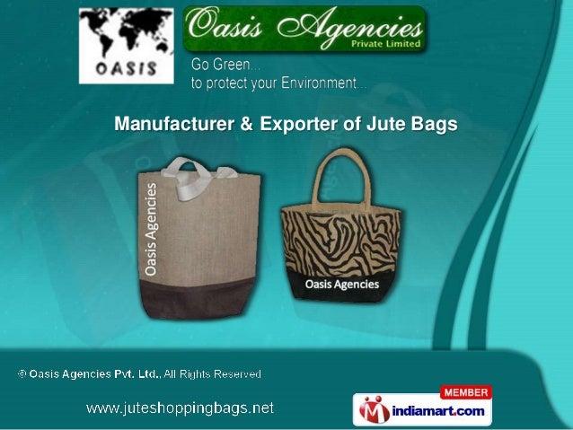 Manufacturer & Exporter of Jute Bags