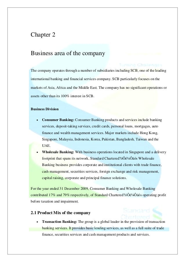 Comprehensive report on standard chartered as project work 25 chapter 2 business reheart Gallery