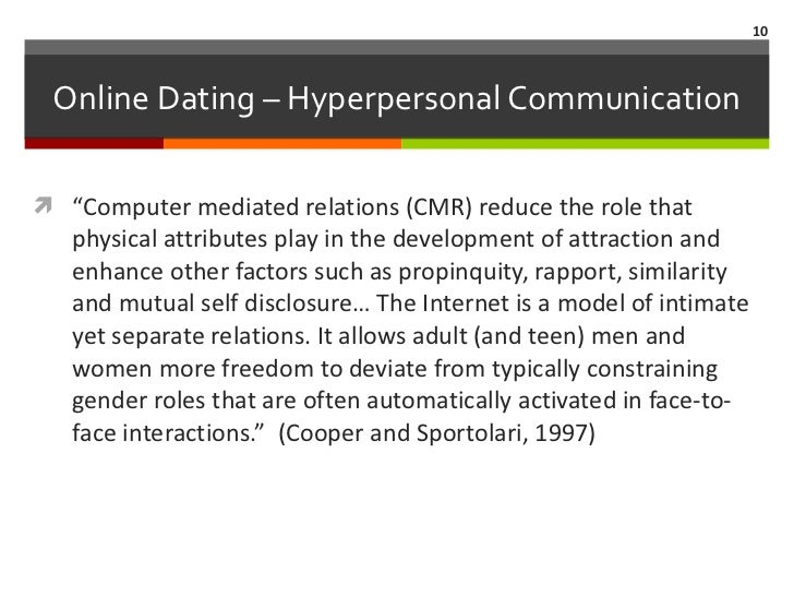 computer mediated communication online dating