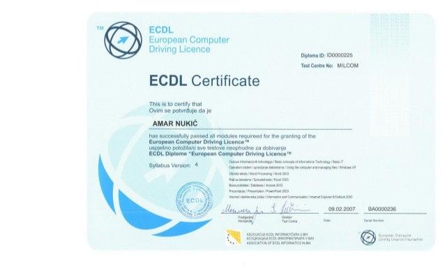 ECDL Cetrificate