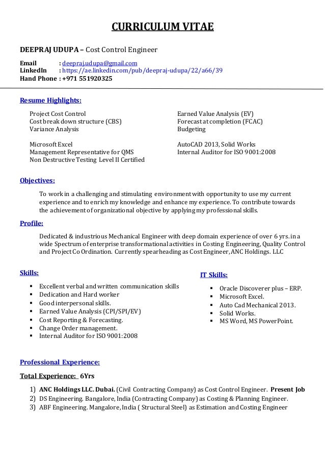 control engineer resumes