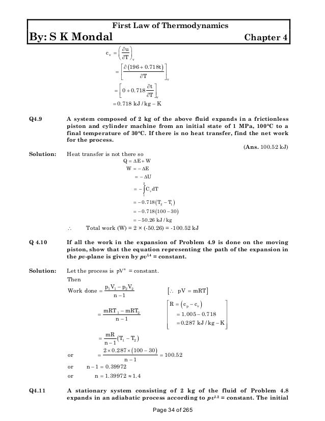 Thermodynamics-worksheet & Question: Thermodynamics Worksheet 1. A ...