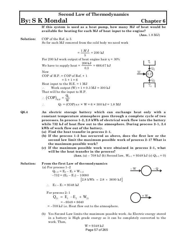 p-k-nag-solution thermodynamics by sk mondal