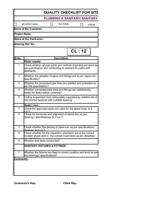 50727481 checklist for site works. Black Bedroom Furniture Sets. Home Design Ideas