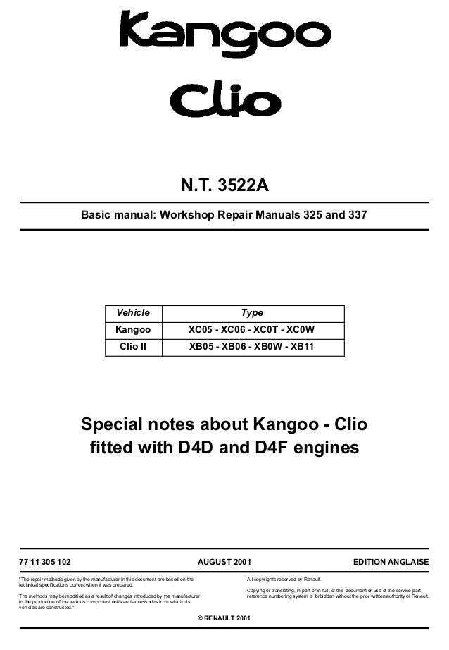 50777360 basic manual workshop repair manuals 325 and 337 rh slideshare net Renault Clio 4 Door Renault Clio Sport